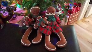 Christmas Gingerbread Doll Family Primitives
