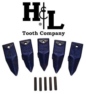 X156t Tiger Hensley Style Bucket Teeth 5 Pack Pins By H l Tooth Co 156