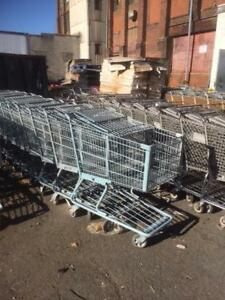 Shopping Carts Lot 16 Steel Large Gray Metal Basket Used Store Fixtures Liquor