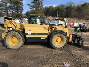 Caterpillar Th83 Telehandler Telescopic Forklift Nice 8000 Lift Outriggers