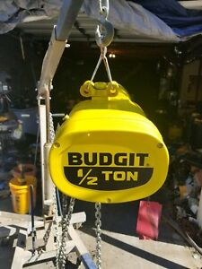 Budgit 1 2 Ton Electric Chain Hoist never Used