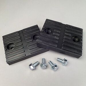 Rubber Lift Pads set Of 2 For Branick Rolling Jacks Ref 10 0017