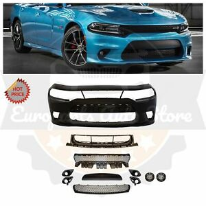 Srt8 Srt 8 Hellcat Style Front Bumper Kit W Fog Lights For 15 18 Dodge Charger