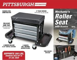 Mechanic s Roller Seat With Drawers Garage Shop Equipment Tools New