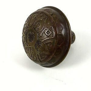 Antique Victorian Copper Bronze Ornate Single Door Knob