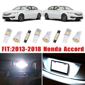 14x White Led Bulb Interior Lights Package Kit For 2013 2017 2018 Honda Accord