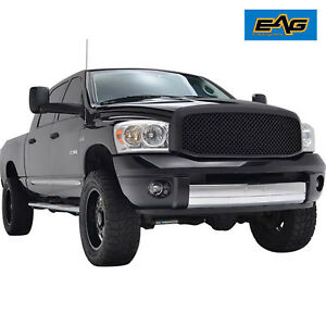 Eag Front Hood Packaged Grille Grill 06 08 Dodge Ram 1500 06 09 Ram Heavy Duty