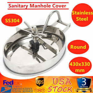 S304 Stainless Steel Pressure Manhole Cover Tank Round Manway Door With Handle
