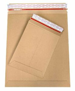 Brown Cardboard Envelopes Stay Flat Photo Mailers 11 X 13 5 Tear Tab 28pt 800