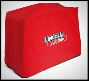 Lincoln Welder Cover Large Canvas Red Welding Machine Dust Protection Waterproof