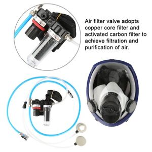 1x Paint Spraying Welding Supplied Air Fed Respirator System Full Face Gas Mask