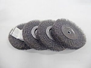 Weiler 01055 6 Wire Brush Wheel 1 2 Hole pack Of 4