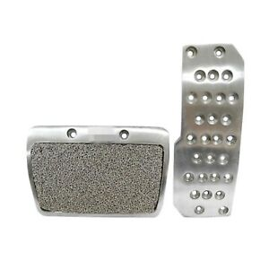 Mugen Style Pedal Pad Set Aluminum Alloy Brake Gas Automatic Transmission At
