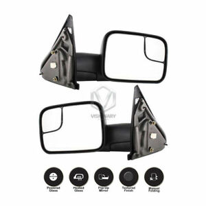 New Front Left And Right Side Towing Mirror Set For Dodge Ram 1500 2002 2008