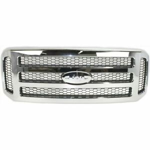 New Front Grille For Ford F 250 Super Duty 2005 2007 Fo1200456