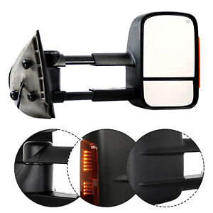 Passenger Right Side Towing Mirror Textured Black For 2003 2006 Chevy Gmc Truck