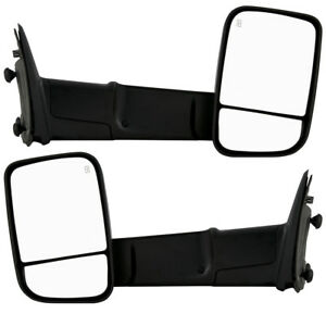 New Left And Right Side Front Towing Mirrors Set For Dodge Ram Trucks 2009 2012
