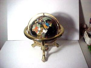 Brass Stand Globe With Compass 18 Tall 13 Sphere For Pickup In Ct