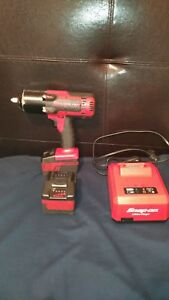 Snap On Ct8850 18v 1 2 Dr Cordless Monsterlithium Impact Wrench Red W Charger