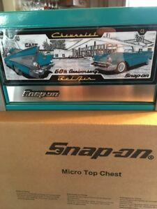 Snap On Teal Belair 60 Th Anniversary Micro Top Tool Chest Box Rare Brand New