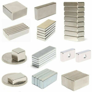 5 30 50 100 N50 Neodymium Block Square Magnet Super Strong Rare Earth Magnet Lot