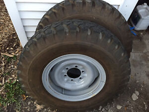Original Toyota Land Cruiser Fj40 Fj45 Split Rim Wheels And Tires 5 Wheel Set