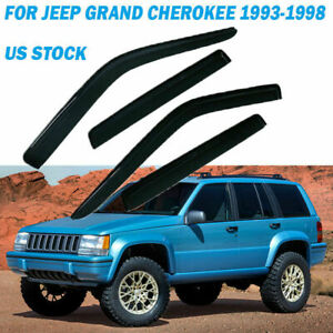 For Jeep Grand Cherokee 93 1998 Window Visors Guard Shade Tape On Lh Rh Us Stock