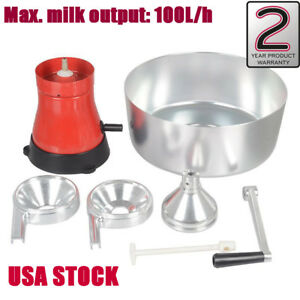 Milk Cream Manual Centrifugal Separator 100l h Usa Stock Stainless