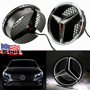 Led Car Front Grille Star Emblem Lights For Mercedes Benz 2006 2013 Illuminated