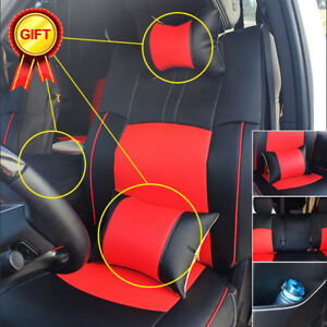 Pu Leather Seat Cover For Dodge Ram 2009 2017 1500 2500 Armrest Cushion Pad Set