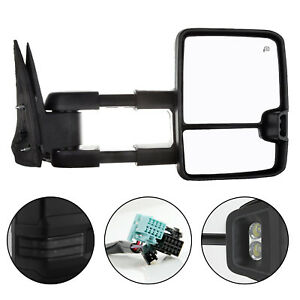 New Rh Side Smoked Tow Mirror For Chevrolet Avalanche 1500 2002 2006 Gm1321411