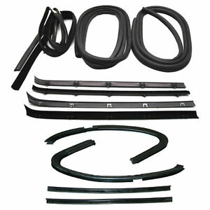 New Set Of 12 Door Weatherstrip Rubber Seal Kit For Chevy C20 Suburban 1973 1980