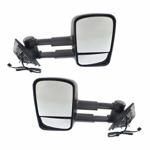 New Set Of 2 Left And Right Towing Mirrors For Chevrolet gmc Truck 2014 2017