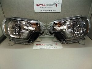 Toyota Tacoma 2015 Sport Pro Left Right Front Headlight Set Genuine Oe Oem