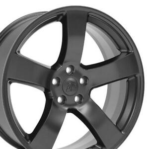 20 Rims Fit Dodge Magnum Chrysler 300 Satin Black Wheels 2296 Set