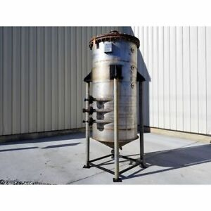 Used Stainless Steel Liquid Jacketed Tank 480 Gallon