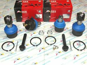 Rwd 4pcs Front Upper Lower Ball Joints For 87 96 Ford F250 F350 K8432 K8433