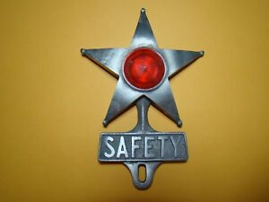 Vintage Style Safety Star License Plate Topper Drive Safely Topper Aaa Topper