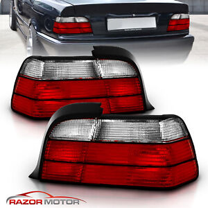 1992 1999 Red Clear Tail Light Assembly Pair For Bmw E36 Coupe Left right Jdm