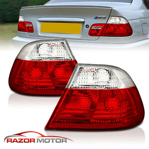 2000 2003 Red Clear Tail Light Pair Set For Bmw E46 325ci 330ci M3 2dr Coupe