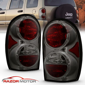 2002 2005 Replacement Smoke Tail Light Pair Set For Jeep Liberty Left Right
