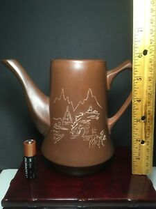 China Yixing Zisha Handmade Teapot With Scenery Marked Stand Not Included