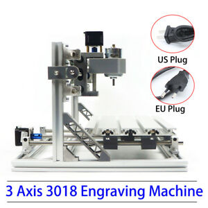 3 Axis Desktop Cnc Router Kit 3018 Grblcontrol Engraving Milling Machine Ups