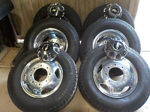 6 Chevy 11 19 3500 Dually Factory 17 Alloy Wheels Michelin Tires 117h Gmc
