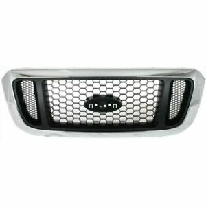 New Chromed Shell Silver Honeycomb Grille For Ford Ranger 2004 2005 Fo1200453
