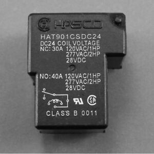 Usa 500pc Power Relay Spdt 30a 40a 240vac 24v Coil 953 1c 24dg 2 Hat901csdc24