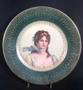 Bavarian Portrait Plate Queen Louise Of Prussia Pm M 1905 8 9a