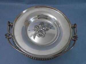 This Is High Quality Silver Plated Brides Basket With Repousse Victorian Rose