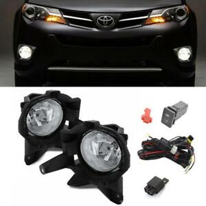 For 2013 2015 Toyota Rav4 Clear Oe Style Driving Bumper Lamp Fog Lights W switch