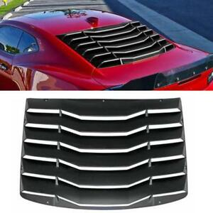 For 16 19 Chevy Camaro Black Rear Window Louver Hood Scoop Vent Cover Sun Shade